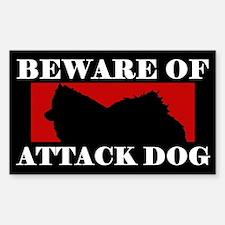 Beware of Attack Dog American Eskimo Dog Decal