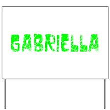 Gabriella Faded (Green) Yard Sign