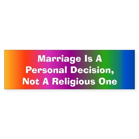 Personal Decision Bumper Sticker