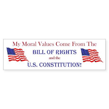 Moral Values Bumper Sticker