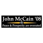 McCain Peace and Prosperity car sticker