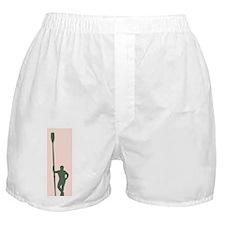 READY TO ROW DARK GREEN PINK CHALK Boxer Shorts