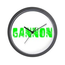Gannon Faded (Green) Wall Clock
