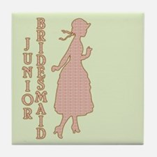 Victorian Junior Bridesmaid Tile Coaster