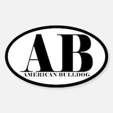 AB Abbreviation American Bulldog Decal