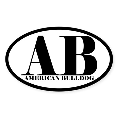AB Abbreviation American Bulldog Sticker