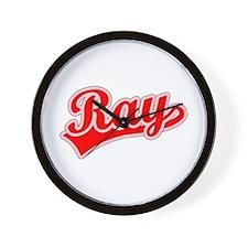 Retro Ray (Red) Wall Clock