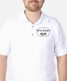 Whiskey Helps Golf Shirt