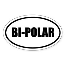 Bi-Polar Bumper Oval Decal