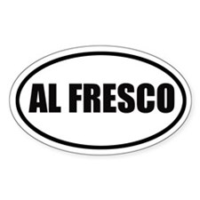 Al Fresco Bumper Oval Decal