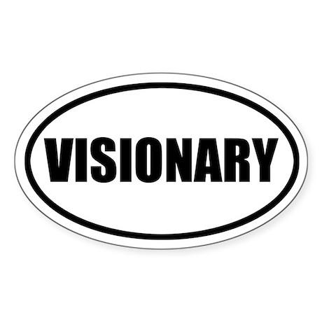 Visionary Bumper Oval Sticker
