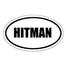 Hitman Bumper Oval Decal