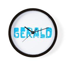 Gerald Faded (Blue) Wall Clock