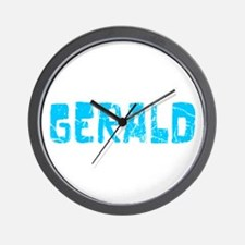 Gerald Faded (Blue) Wall Clock