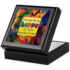 Happy Abstract Keepsake Box