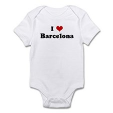 I Love Barcelona Infant Bodysuit