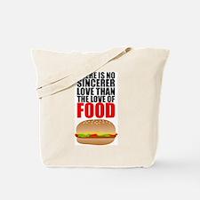 The Love of Food Tote Bag