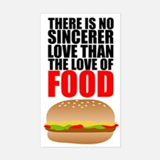 The Love of Food Rectangle Decal