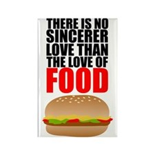 The Love of Food Rectangle Magnet