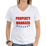 Retired Property Manager Women's V-Neck T-Shirt