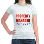 Retired Property Manager Jr. Ringer T-Shirt