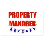Retired Property Manager Rectangle Sticker