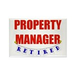 Retired Property Manager Rectangle Magnet (100 pac