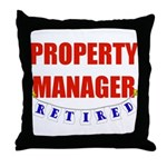 Retired Property Manager Throw Pillow
