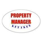 Retired Property Manager Oval Sticker (10 pk)