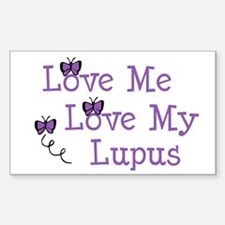 Love Me Love My Lupus Rectangle Decal