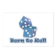 Born to roll Postcards (Package of 8)
