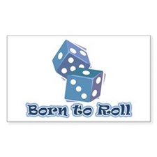 Born to roll Rectangle Decal