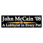 John McCain: Lobbyist Bumper Sticker