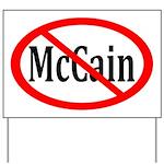 Anti-McCain Yard Sign With Red Slash