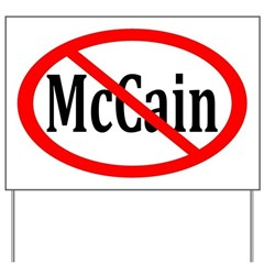 Anti-McCain Yard Sign With Red Slash