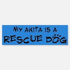 Rescue Dog Akita Bumper Bumper Bumper Sticker