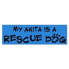 Rescue Dog Akita Bumper Bumper Sticker