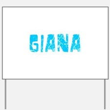 Giana Faded (Blue) Yard Sign