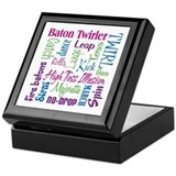 Baton twirling Square Keepsake Boxes