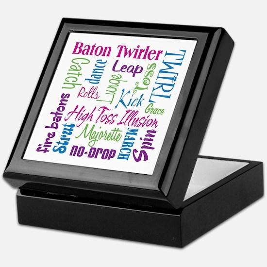 Baton Twirler Keepsake Box