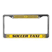 Soccer Taxi License Plate Frame