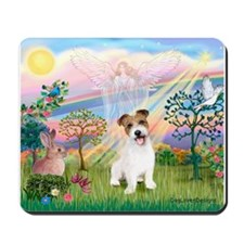 Cloud Angel 2 / JRT pup Mousepad
