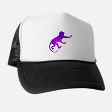 Tie Die Purple Monkey Trucker Hat