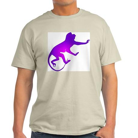 Tie Die Purple Monkey Ash Grey T-Shirt