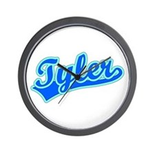 Retro Tyler (Blue) Wall Clock