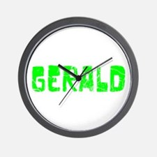 Gerald Faded (Green) Wall Clock
