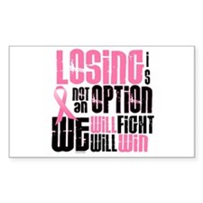 LOSING Is NOT An Option 6 Rectangle Sticker 10 pk