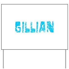 Gillian Faded (Blue) Yard Sign