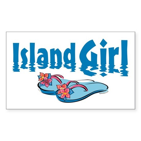 Island Girl 2 Rectangle Sticker
