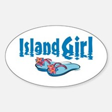 Island Girl 2 Oval Decal
